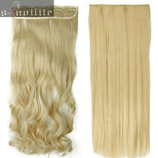Extra Thick Curly Wavy Straight Clip in Full Head Hair Extensions for Human SN90
