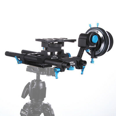 FOTGA DP500IIS 2S DSLR Follow Focus A/B Stops+15mm Rail Rod Cheese Baseplate Rig