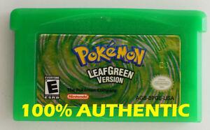 ORIGINAL-AUTHENTIC-Pokemon-LEAF-GREEN-Version-Save-Properly-Gameboy-Advance