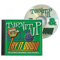 Turn It Up & Lay It Down Vol. 3 Rock-it Science Cd For Drummers 000451092