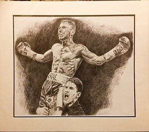 Boxing-Carl-Frampton-Biro-Bic-Pen-Original-By-Killian-Art