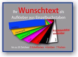 Aufkleber-034-Wunschtext-034-Sticker-Autoaufkleber-Schrift-Klebefolie-Buchstaben-776