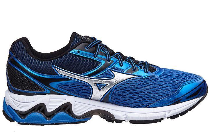 Mizuno Wave Inspire 13 Mens Running Runner Shoe (D) (03 Blue/Silver/Black)