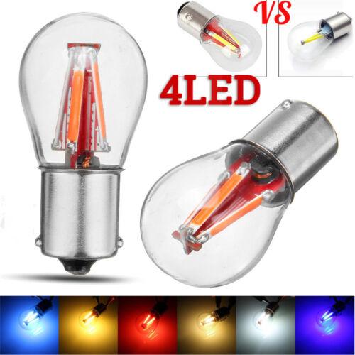 4 LED Filament 1156 BA15S P21W Backup Reverse Light Turn Signal Brake DRL Bulb