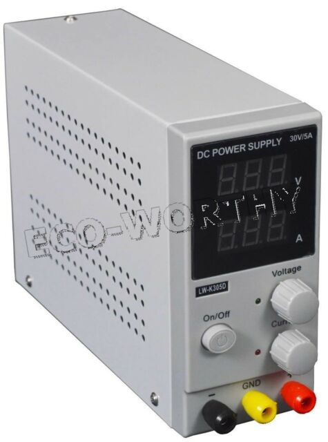 Switching DC Power Supply Adjustable Variable Digital LCD Lab 0-30V 0-5A 220V