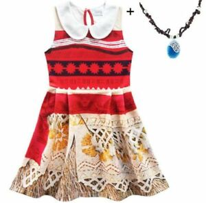 Dresses Lovely Girls Kids Moana Sleeveless Party Holiday Birthday Dress B4