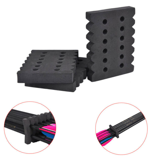 3pcs Arrow Holder EVA Foam Rack 12 Arrows Separator Quiver Protection Shelf *d
