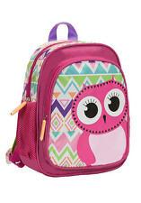 Rockland Kids Backpack Owl School Bag Cute Girls Pink Smart Animal Cartoon Bird