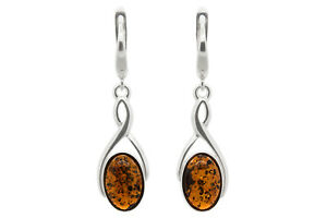 Sterling-Silver-Infinity-Leverback-Dangle-Earrings-with-Genuine-Cognac-Amber