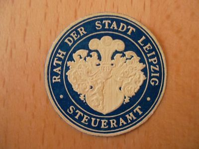 Siegelmarke Rat Der Stadt Leipzig Steueramt Belebende Durchblutung Und Schmerzen Stoppen MüHsam 15295