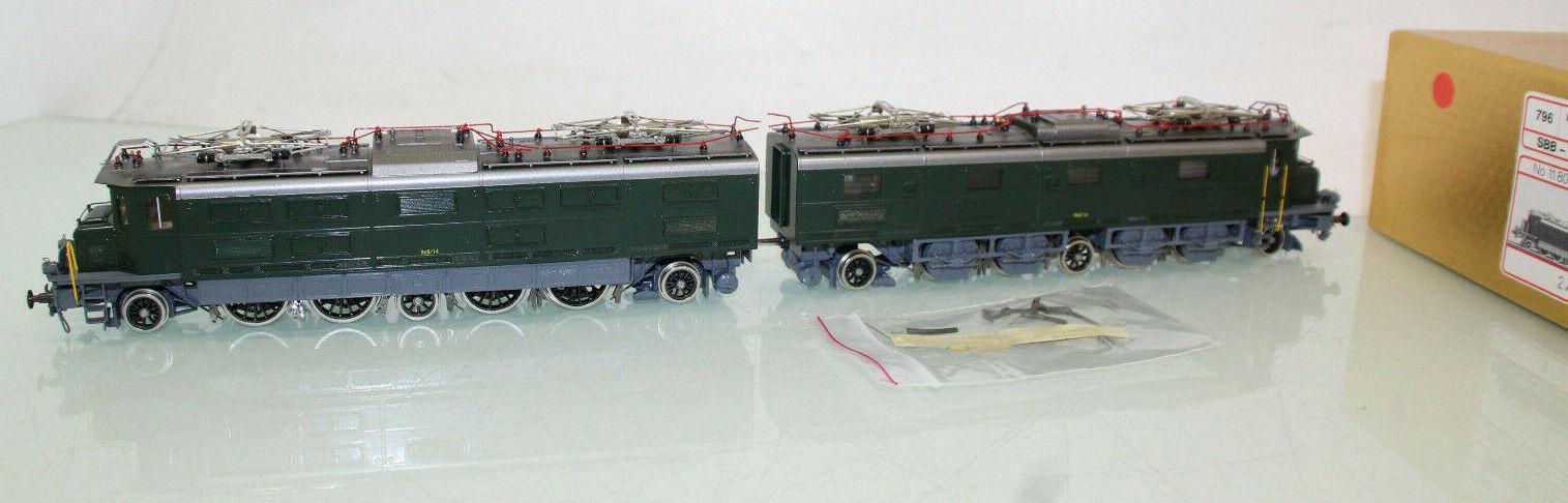 Metropolitan h0 796 RAR! doppio-e-Lok AE 8/14 DELLE SBB IN OTTONE IN SCATOLA ORIGINALE (cl3596)