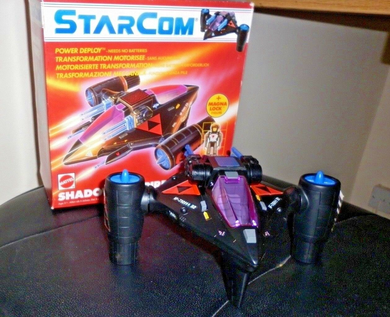 STARCOM SHADOW VAMPIRE COMPLETE AND FULLY FUNCTIONING WITH 2 FIGURES 1986 COLECO