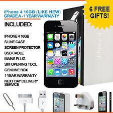 Apple iPhone 4 16GB Black Factory Unlocked Grade A Bundle