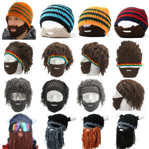 e3a40327712 Image is loading Winter-Mens-Beard-Hat-Moustache-Cospaly-Barbarian-Looter-