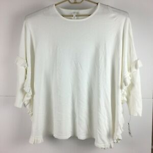 NY-Collection-Womens-White-Pullover-Sweater-XL-NWT