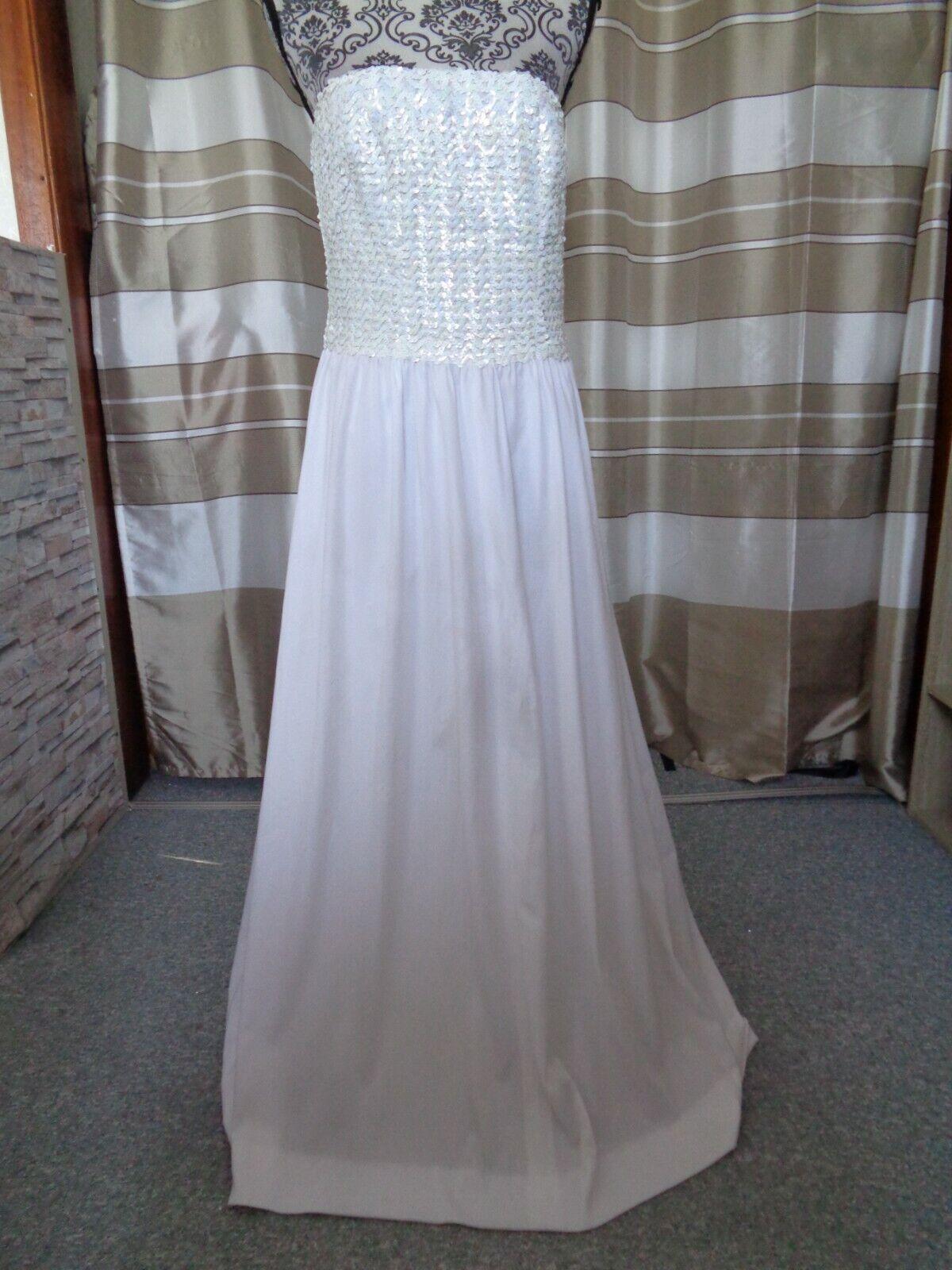 (15)Edles Damen Braut Standesamt Abend Kleid GR: 40