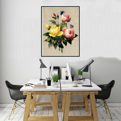 Nordic Rose Flower Canvas Art Poster Prints Picture Living Room Wall Home Decor