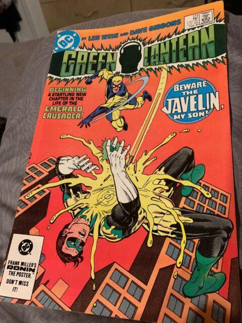 green paper DC Comics 1983 Green Lantern promo flyer Wein Gibbons