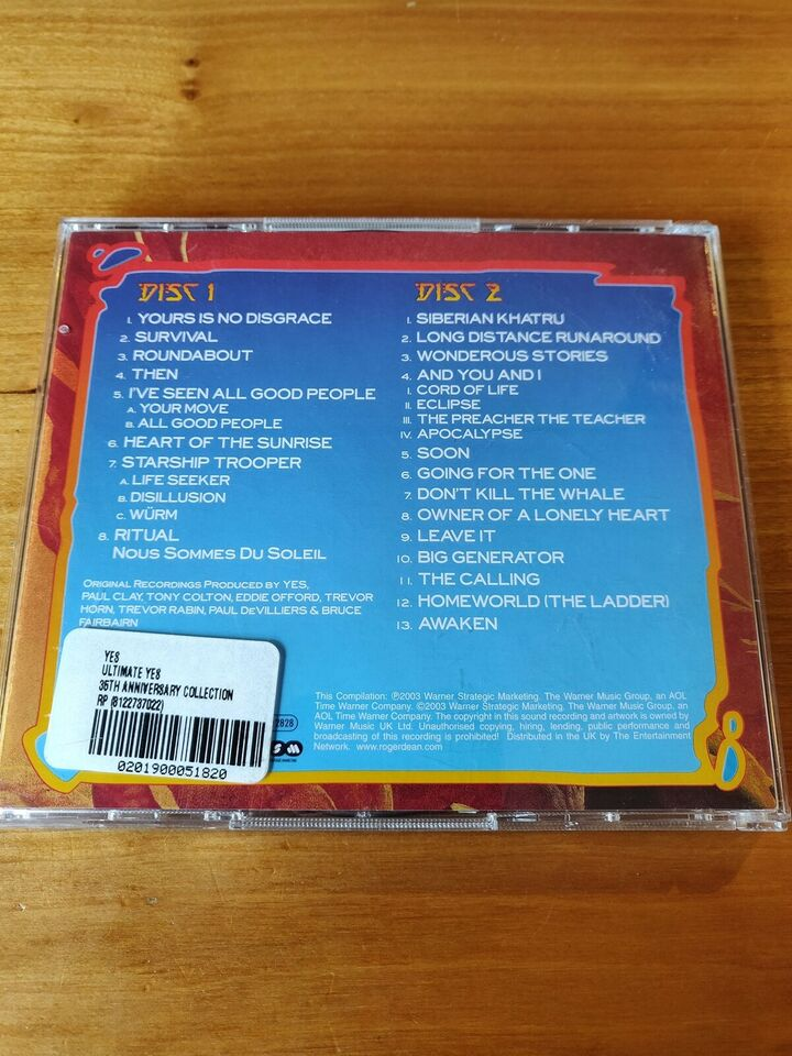 Yes: The Ultimate Yes: 35th Anniversary Collection, rock