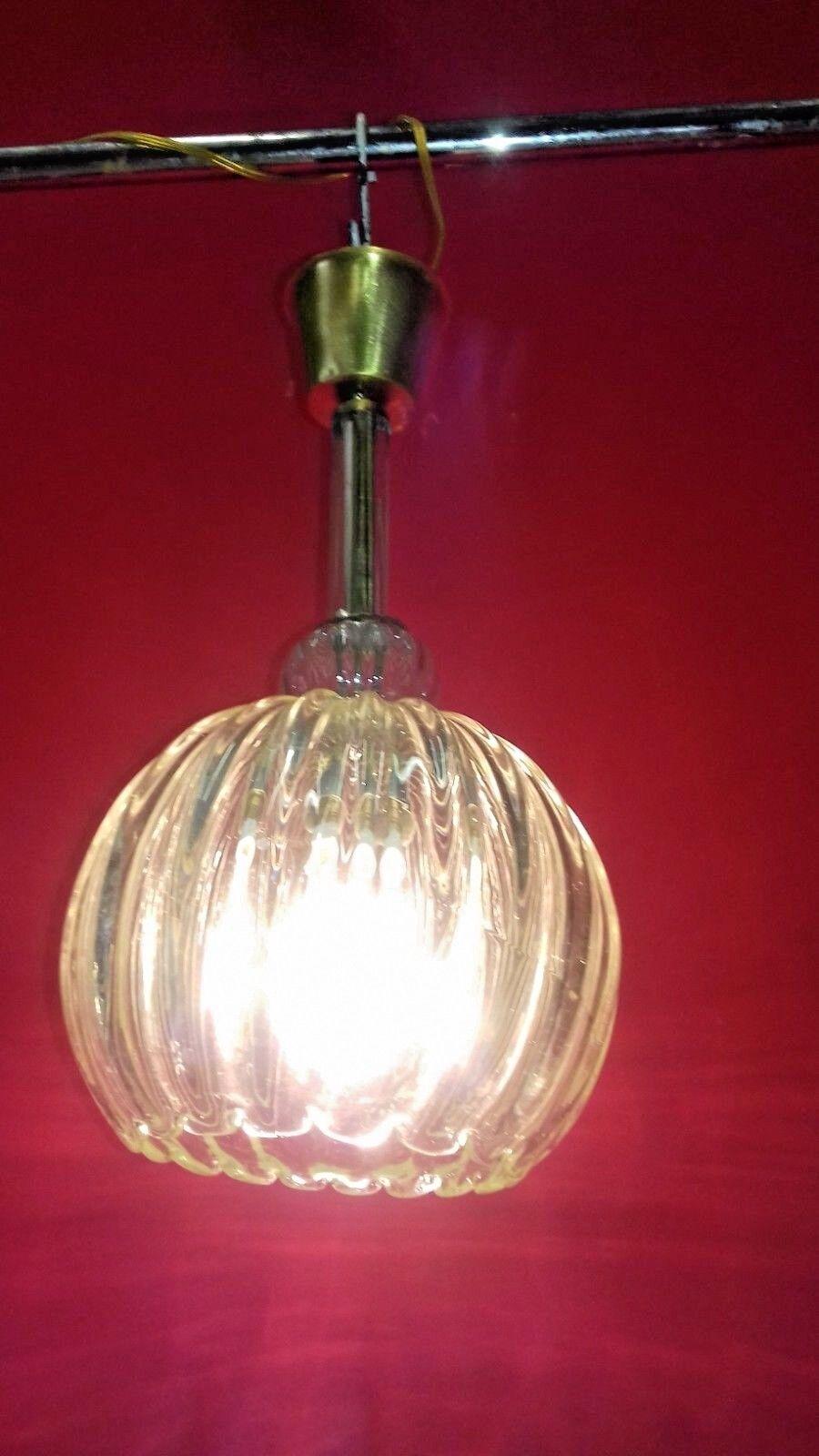 Bellissimo lampadario d'epoca anni20 stile Barovier Toso - Chandelier of the 20s