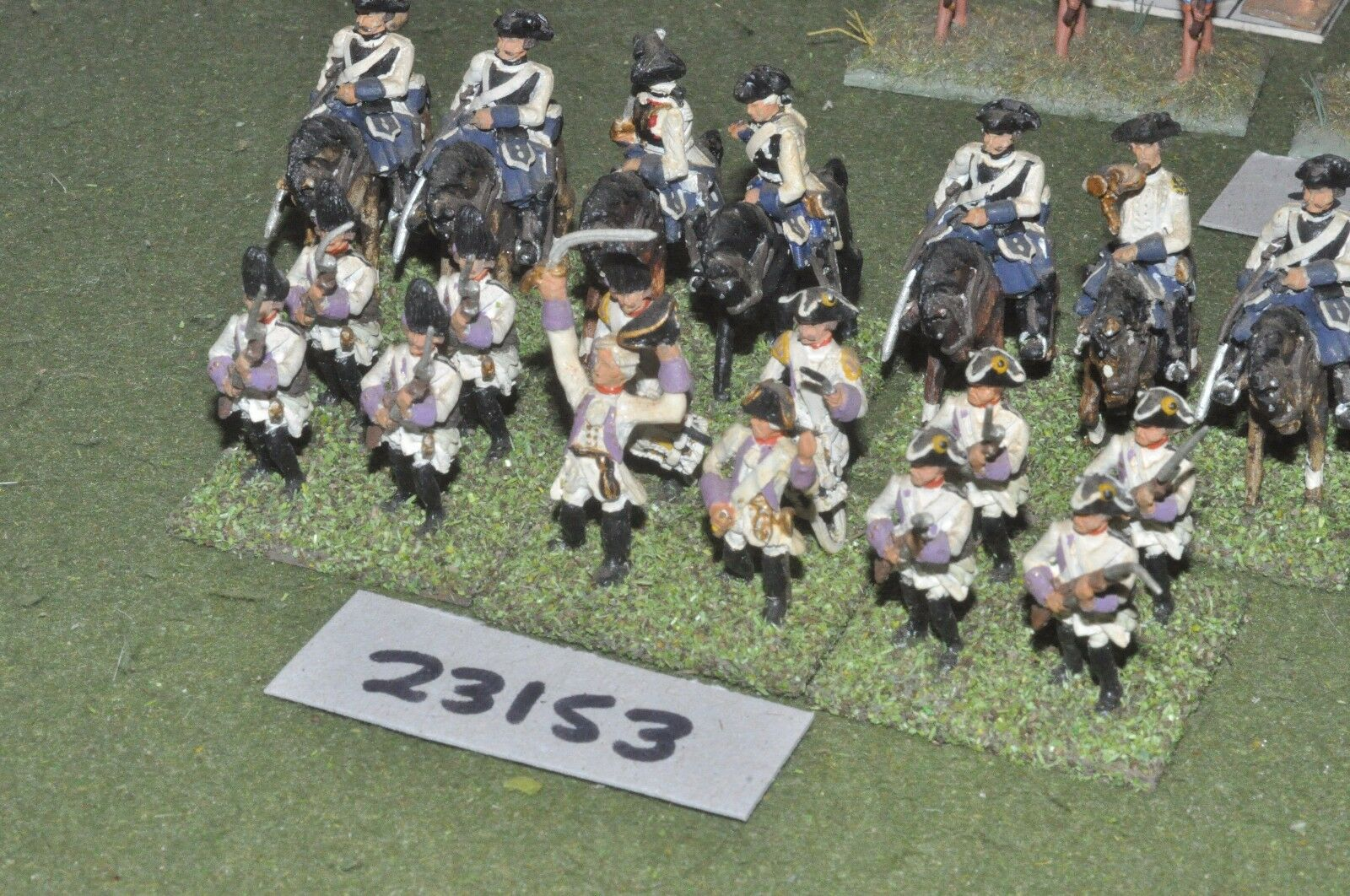 25mm 7YW   austrian - battle group 19 figures - inf (23153)