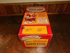 Vintage Trim A Tree Animated Santa Bank # 9833 with Box