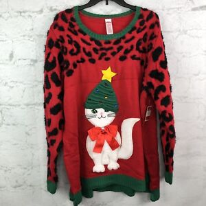 3x Ugly Christmas Sweater.Details About Women S Ugly Christmas Sweater Womens 3x Cats 3d Bow Funny Tree Hat