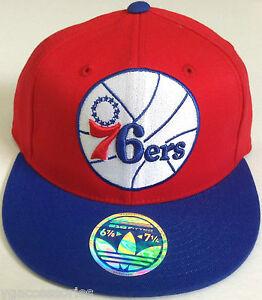 06a5a6128d9 NBA Philadelphia 76ers Adidas Flex Fit Flat Brim XL Logo Cap Hat NEW ...