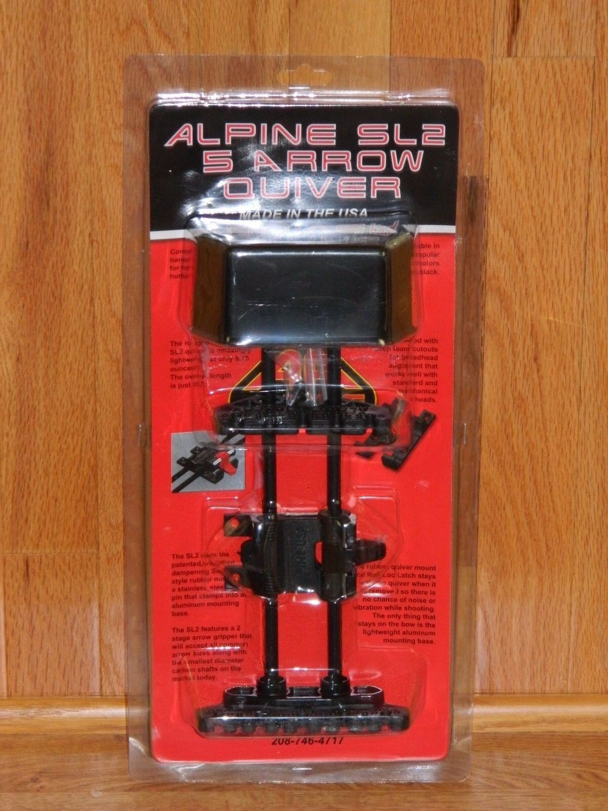 LEFT Handed Alpine SL2 Soft Loc 5 Arrow Bow Quiver- Mathews,Hoyt, Bowtech, Elite