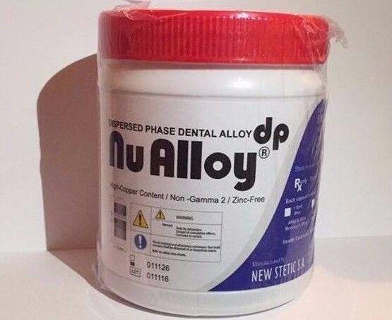 Amalgam Nu Alloy Dental Non-Gamma 2 Zinc-Free 50 Capsules (3 Spill)