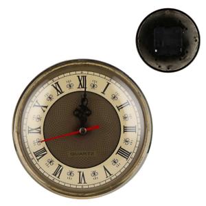 Quartz Clock Movement Insert Roman Numbers White Face Gold