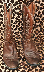 Womens-Ariat-Distressed-Brown-15725-Heritage-Western-Cowboy-Boots-Size-7B