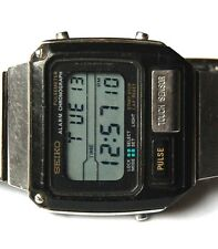 VINTAGE SEIKO LCD QUARTZ PULSEMETER S229 5010 MENS DIGITAL WATCH AWESOME!