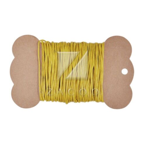 10//30//50M Waxed Cotton Macrame Cord String Linen Thread Wire Jewelry 30 Colors