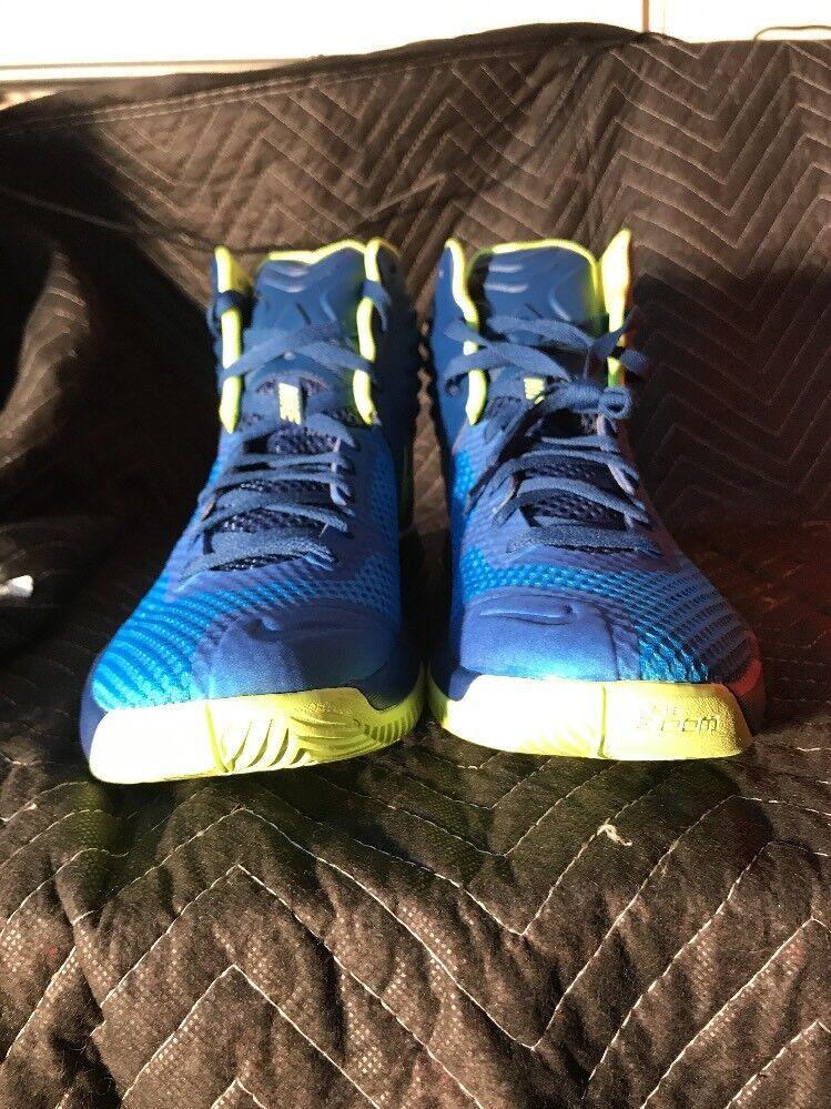 Nike Nike Nike zoom hyperfuse mens schuhe sz 12 684591 blau / grün 783c59