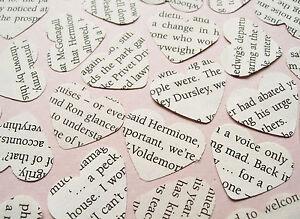 Harry-Potter-Heart-Novel-Book-Confetti-Wedding-Vintage-Decor-Hearts