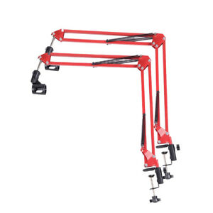 2-Mic-Microphone-Suspension-Boom-Scissor-Arm-Stand-Holder-for-Studio-Broadcast