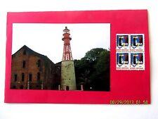 Christmas Card, Handmade w/Seal #WX104 (4), Devils' Island Prison Pic, Fr Guiana
