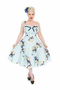 H anni Abito blu cielo Hearts r Roses giorno da London '60 And 1950 WBBEPU8