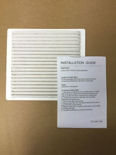 87139-48020-83 CF1051 New G.K Industries Cabin Air Dust Filter For Toyota #