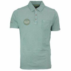 Details about Camel Active Men's Polo Shirt Green Plain 218426 75