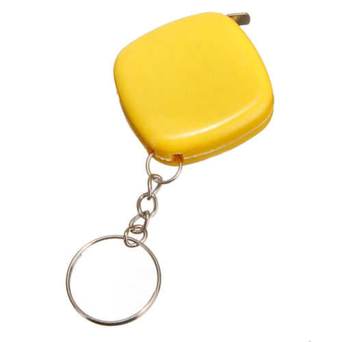2x Small Portable Keychain Key Ring Easy Retractable Tape Measure Ruler 1m TYUK