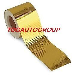"""TOG 450 DEGREE GOLD HEAT DEFENCE REFLECTIVE TAPE 2/"""" X 30ft SILVIA S13 S14 S15"""