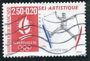 CréAtif Stamp / Timbre France Oblitere N° 2709 Sport Jeux Olympiques Alberville Ski