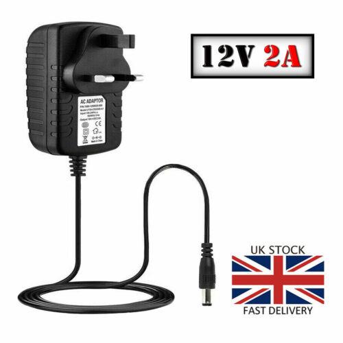 2A 12V AC DC POWER SUPPLY ADAPTER CHARGER FOR CAMERA LED STRIP LIGHT CCTV UKPLUG