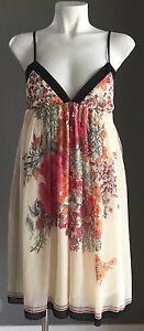 NWT-Floral-Print-FREE-FUSION-Babydoll-Dress-Size-8-RRP-45