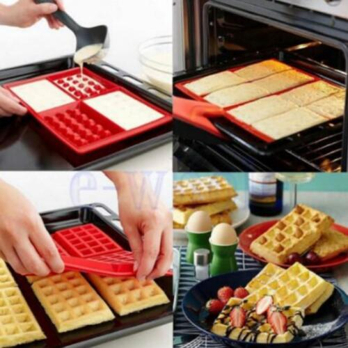 Silicone Waffle Pan Cake Baking Chocolate Baked Waffle Maker Mold LA