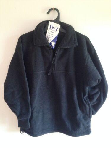 BNWT Boys Girls Sz 16 LW Reid Brand Black Long Sleeve Polar Fleece School Jumper