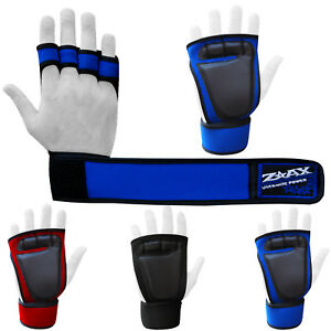 Neoprene-Weight-Lifting-Gloves-Leather-Padded-Palm-Fitness-Body-Building-Straps