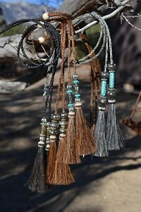 Braided-Horsehair-Stampede-String-Tassels-amp-Beads-Cotter-Pins-Assorted-Colors